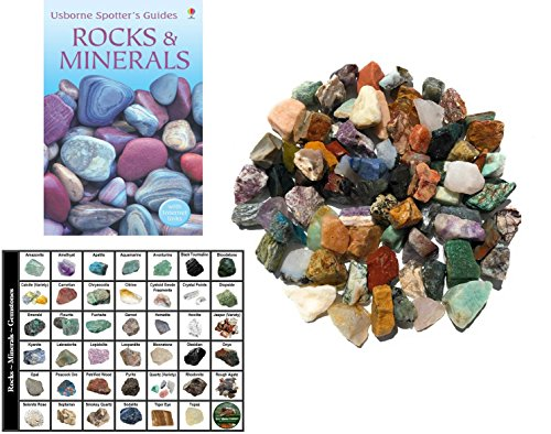 - Bulk 4-Pound Rock Rough from Brazil, Madagascar and India, Stone Mix with Identification card and book - great for sorting, tumbling, gem mining, polishing and more!