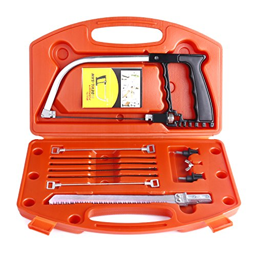 Magic Handsaw Set, Uolor 14 in 1 Multi Purpose DIY Bow Saw Hacksaw Universal Saw Woodworking Tool for Cutting Wood, Plastic, Glass, Tile, Metal, Rope, PVC Pipe, Rubber