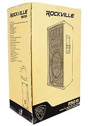 "(2) Rockville RSG-15 Single 15"" Three-Way 3000 Watt Peak/1500 Watt RMS Pro Audio Passive Loudspeakers with Three 3\"