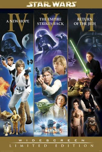 Amazon Com Star Wars Episode Iv V Vi Movie Poster Widescreen Edition Size 27 Inches X 40 Inches Prints Posters Prints