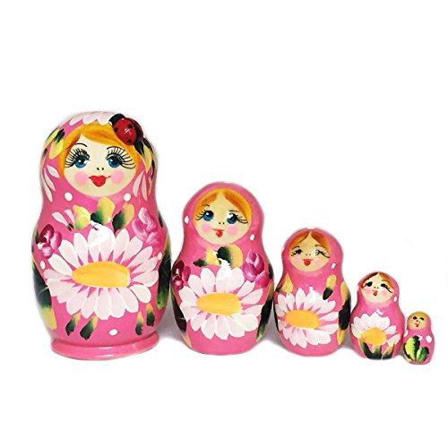Lady Bug Russian 5 Piece Matryoshka Doll 4 ()