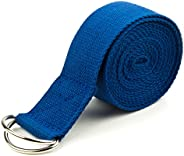 Crown Sporting Goods SYOG-44 8-Foot Cotton Yoga Strap with Metal D-Ring