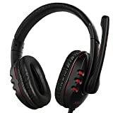 AUKEY Gaming Headset Wired Over-head Stereo with Microphone, Volume Control for PC Tablet Laptop