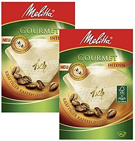 2 BOXES of Melitta Size 1x4 Gourmet Intense Coffee Filters, Pack of 80 by Melitta