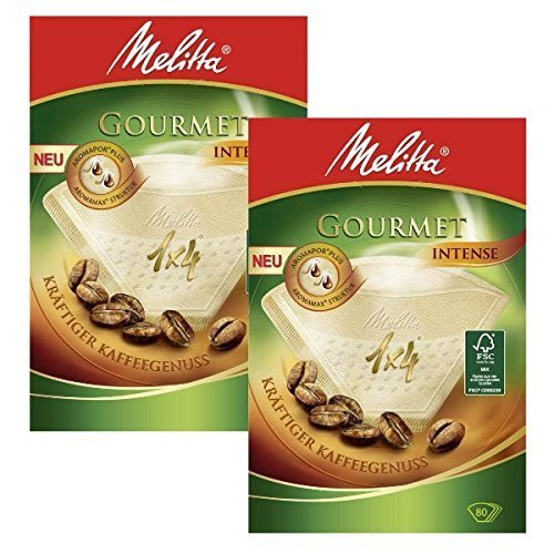 Pack of 80 2 BOXES of Melitta Size 1x4 Gourmet Intense Coffee Filters