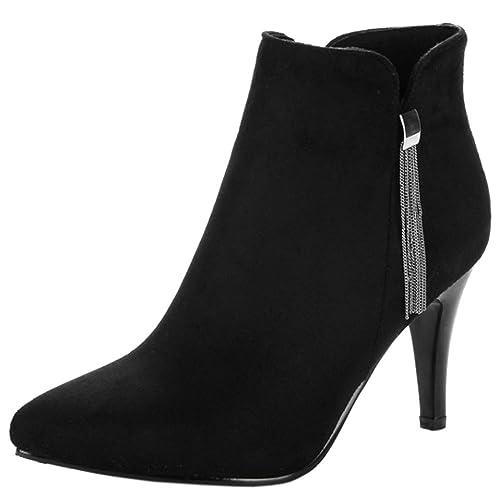 Razamaza Zapatos Moda Botines De Vestir Tacon Alto Para