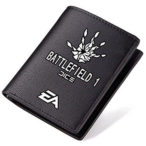 4.52''3.74'' Battlefield 1 Black Short Pu Leather Wallet ()