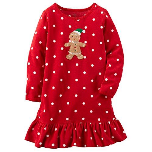 Carter's Girls Long-sleeve Microfleece Christmas Nightgow...