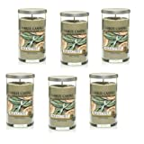 Yankee Candle Company Sage and Citrus Pillar Candle, 12-Ounce, Set of 6