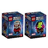 LEGO 6237625 Brickheadz Star-Lord and Gamora Bundle Building Kit (249 Piece)