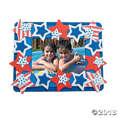 Patriotic Photo Frame (Patriotic Photo Frame Magnet Foam Craft Kit - Crafts for Kids-makes 12)