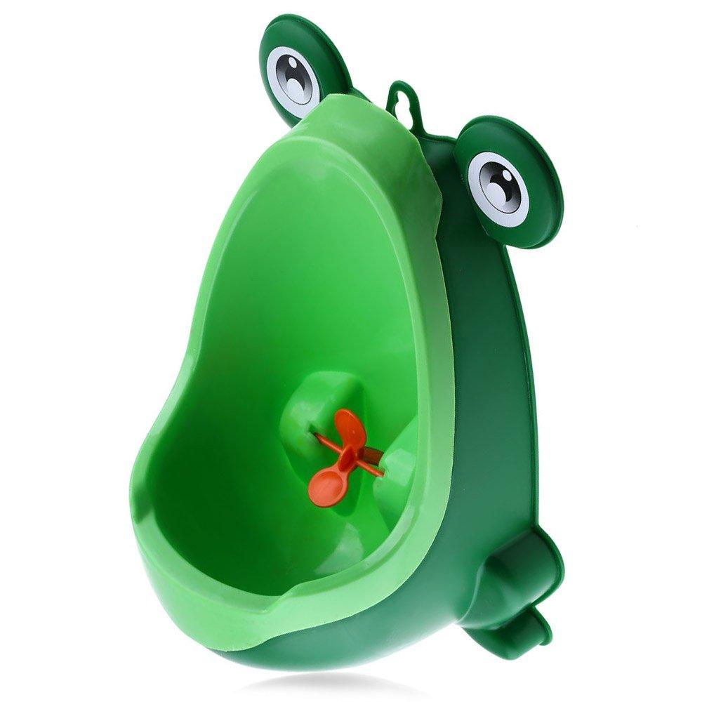 Carino rana ragazzi vasino, appeso bambino in piedi orinatoio separazione forte ventosa rotazione riduttore per WC con ventola PARAMITA