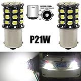 AMAZENAR 2-Pack 1156 BA15S 1141 1073 7506 1003 Car Reverse Light Bulbs - 12V-24V Extremely Bright White 950 Lumens 2835 33 SMD LED Light Bulb - Replacement for Interior RV Camper Tail Backup Light