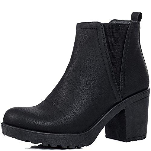 À Talon Boots 39 Chelsea Plateforme Spylovebuy Bottines Bloc Gr xwCgZnq