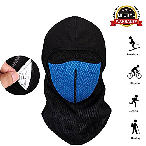 Kolodo Windproof Face Mask,Balaclava Hood - Ski Mask, Winter Comfort Full Face Mask for Skiing, Cycling, Motorcycle Outdoor Sports ()