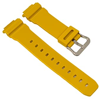 6bf7a0abc11 Replacement Strap for Casio G-Shock Yellow DW 5600CS 9 10303984:  Amazon.co.uk: Watches
