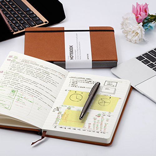 Dotted Bullet Grid Journal - Lemome A5 Hardcover Dot Grid Notebook with Pen Loop - Premium Thick Paper - Page Dividers Gifts