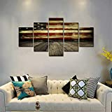 Wooden Flag Wall Pictures for Living Room Canvas