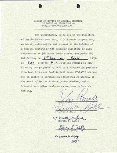lucille-lucy-ball-waiver-signed-04-03-1959-with-co-signers