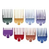 Jocestyle 8 Sizes Colored Limit Comb Guide Tools Set for Electric Hair Clipper Shaver