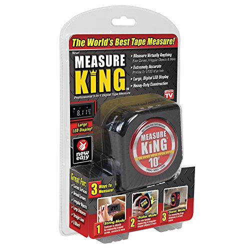 (ONTEL MK-MC12/4 Measure King 3-in-1 Digital Tape Measure String Mode, Sonic Mode & Roller Mode As seen On Tv)