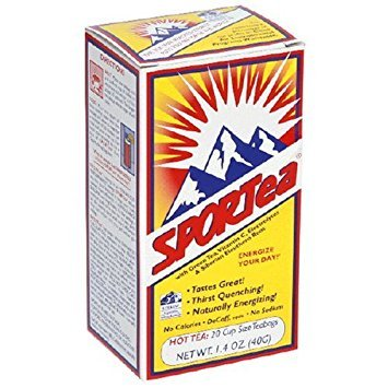 SPORTea(R) Hot: 20 Individual Tea Bags/Box Pack of 8