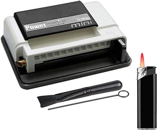 Máquina para liar cigarrillos Power Matic Mini Plus, incluye:Funda para caja de cigarrillos. Máquina de liar cigarrillos de clase extra + accesorios: Amazon.es: Hogar