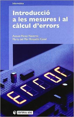 Book Introducció a les mesures i al càlcul d'errors.