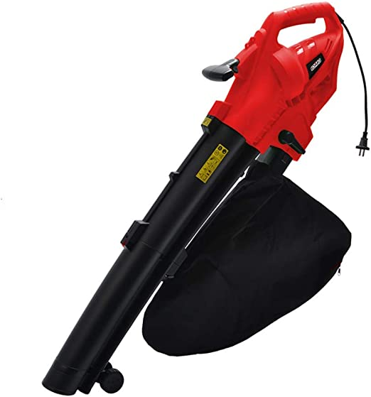 Kombo - Soplador/aspirador hojas 2400 W, 230 V-50 Hz, Vel. Aria 270 kmh, saco recogedor. 45 l con ruedas guía, rojo: Amazon.es: Jardín