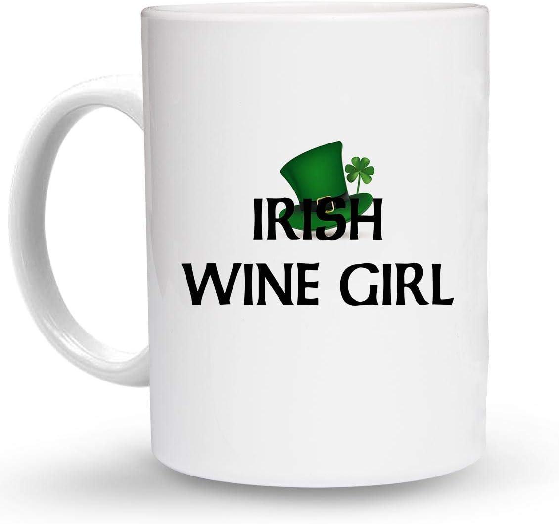 Ceramic COFFEE MUG Coffee Drink Cup DesW73 Makoroni 11 Oz IRISH WINE GIRL Irish Ireland