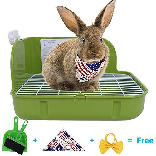 Humorous.P Pet Toilet Small Rectangular Plastic Animal Litter Potty Trainer Corner Litter Bedding Box Pet Pan for Small Animal/Rabbit/Guinea Pig/Galesaur/Ferrets