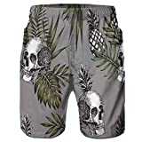 FANOUD Men Pants, Men's Accelerate Running Short 3D Hawaiian Printed Beach Work Trouser Shorts