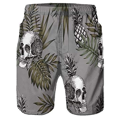 abe91d25f4 F_Gotal Men's Swimming Trunks Quick Dry Board Shorts 3D Graffiti Printed Swim  Shorts Boxer Briefs Swimwear
