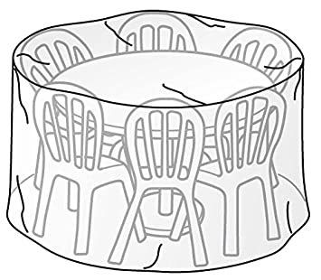 Höhe 95 cm TrendLine Schutzhülle für Tischgruppe rund Durchmesser 200 cm