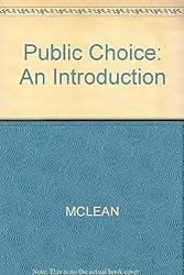 Public Choice: An Introduction
