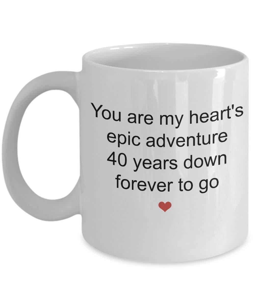 Regalos de 40 años de la taza de café para él o ella: la ...