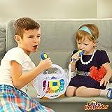 Little Pretender Kids Karaoke Machine - Sing Along MP3 Music Player with 2 Microphones - Plays Music via Bluetooth, SD, USB, Aux &FM Radio