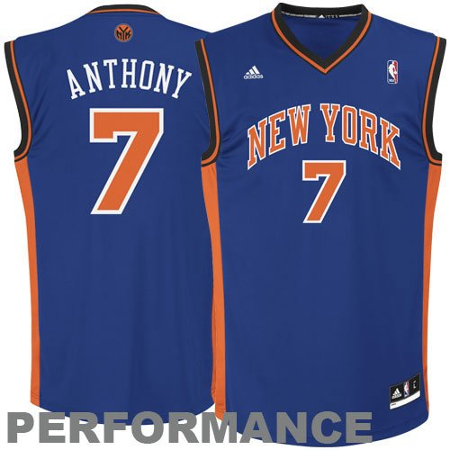NBA New York Knicks Carmelo Anthony Blue Replica Jersey Boys'