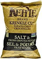 Kettle Chips Krinkle Salt and Pepper Chips, 220 Gram