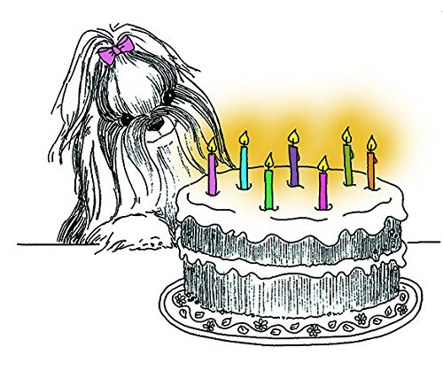 (Shih Tzu Happy Birthday Fine Art Greeting Card (Inside Reads: Happy Birthday!))