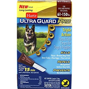 Hartz Hz Ugpro Ft Drps Dg 60lbs Size .22z Ultraguard Pro Flea & Tick Drops - Dogs & Puppies 60+ Lbs.22oz 30