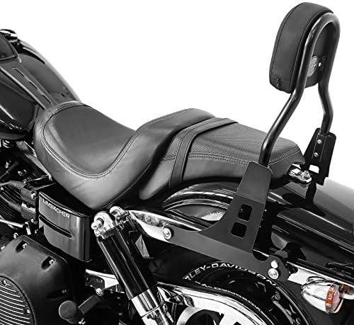 Sissy Bar Cl Compatible With Harley Davidson Dyna Fat Bob 10 17 Black Auto
