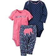 Carter's Baby Girls' 3 Piece Elephant Set 12 Months Pink