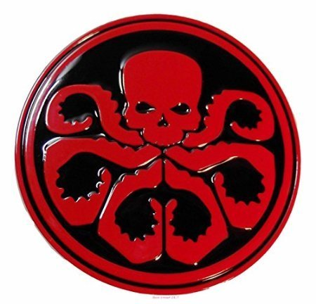 Metal Licensed Belt Buckle (Marvel Comics Captain America HYDRA Logo Metal/Enamel BELT BUCKLE by)
