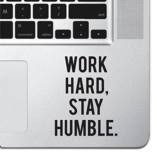 Work Hard Motivational Macbook Sticker Decal MacBook Pro Decal Air 13 15 17 Keyboard Mousepad Trackpad Laptop Inspirational Sticker