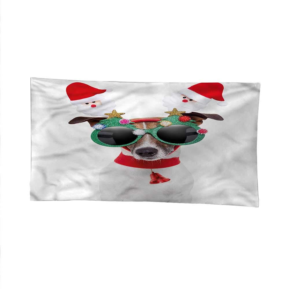 Christmasoutdoor tapestryceiling tapestryFunny Dog Sunglasses 93W x 70L Inch