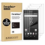 [3 Pack] Sony Xperia Z5 Compact Screen Protector- iVoler Premium Tempered Glass Screen Protector for Sony Xperia Z5 Compact- 0.2mm Ballistics Glass, 2.5D Round Edge, 9H Hardness Featuring Anti-Scratch, Anti-Fingerprint, Bubble Free- Lifetime Replacement Warranty