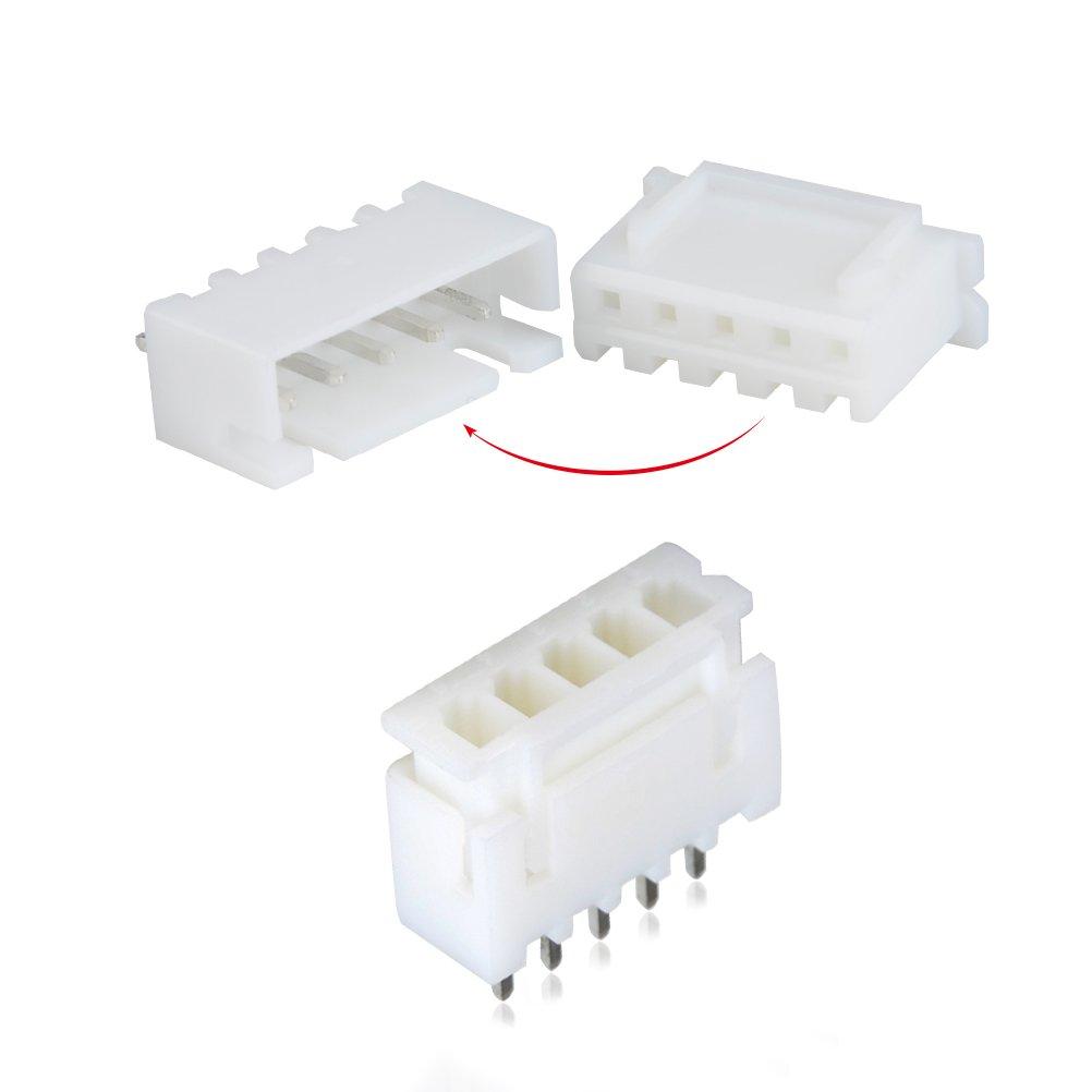 QLOUNI 560pcs JST-XHP Conector Cables Kit de 2,54 mm de Hembra Pin Header JST-PH 2//3//4//5 Pin Conector Enchufe Macho y Hembra
