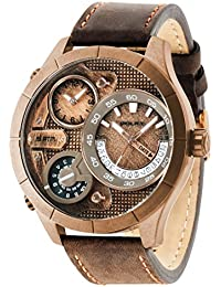 Bushmaster watch R1451254003 Mens Brown Leather Multifunction. Police