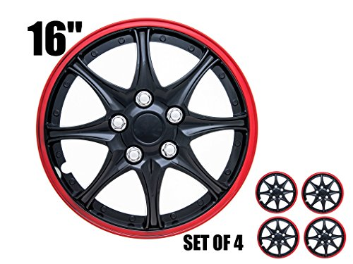 16 inch rims black and red - 5